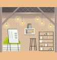 creative coworking open space modern office design vector image vector image