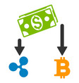 cryptocurrency cashflow flat icon vector image vector image