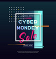 cyber monday media concept banner vector image