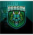 Dragon head esports mascot logo design