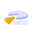 economic crisis concept doodle pie chart on a vector image