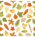 Falling leaves seamless pattern background vector image
