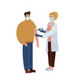 female doctor gives an injection anti vector image vector image