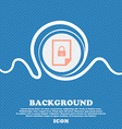 file locked icon sign Blue and white abstract vector image