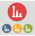Flat chess figures icons vector image vector image