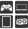Flat icons technology vector image