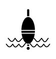 Float fishing icon black