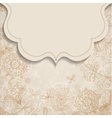 frame on vintage background with floral patterns vector image