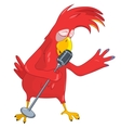 Funny Parrot Singing vector image vector image