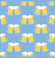 glass beer pattern vector image vector image