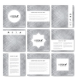Gray set templates for square brochure vector image