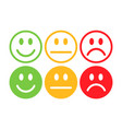 happy unhappy-emoji-color vector image vector image