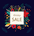 holiday sale vector image vector image