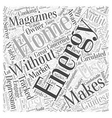 home energy magizines II Word Cloud Concept vector image vector image