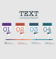 infographic design template set and business icons vector image vector image