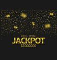 jackpot big win vector image vector image
