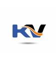 KV company linked letter logo