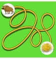 Layout for game labyrinth find a way bull vector image vector image