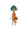 mayan indian maya civilization character vector image vector image