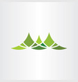 mountain symbol design element vector image