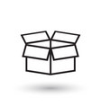 open box icon shipping pack flat on white vector image