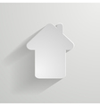 paper house icon vector image