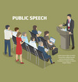 people records report of manager on public speech vector image vector image