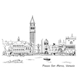 Piazza San Marco with Campanile and Doge Palace vector image