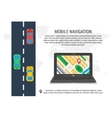 Poster of computer navigation system vector image vector image