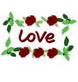 rectangular frame of roses vector image