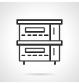Restaurant stove simple line icon vector image vector image