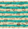 Seamless coffee pattern with hand drawn elements vector image vector image
