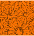 seamless pattern of flowers marigold vector image