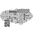 self-image word cloud concept vector image vector image