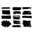 set black paint ink brush strokes brushes vector image vector image