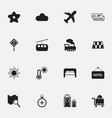 set of 16 editable holiday icons includes symbols vector image vector image