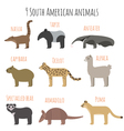 Set of South American animals icons