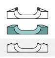 skateboard ramp side view skate park construction vector image