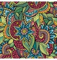Sketchy doodles decorative floral ornamental vector image
