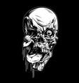 skull scary horror black vector image vector image