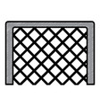 soccer goal grid equipment icon vector image