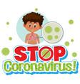 stop corona virus sign vector image vector image
