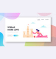 summertime vacation website landing page young vector image