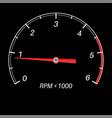tachometer black scale vector image