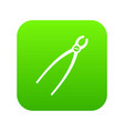 tooth extraction instrument icon digital green vector image vector image