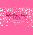valentines day sale poster or banner vector image vector image