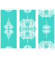 vertical banner with lotuses yoga mat design set vector image vector image