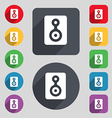 Video Tape icon sign A set of 12 colored buttons vector image vector image