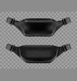 waist bag belt pouch black fanny pack mockup vector image vector image
