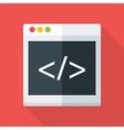 Website coding flat stylized vector image vector image